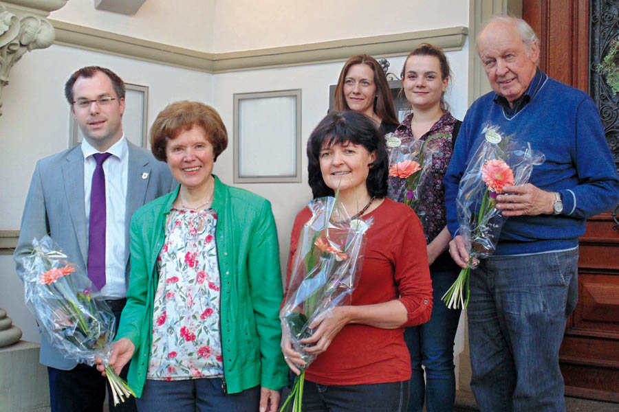 Vorstand: v.l.n.r. - Maria Theresia Rist, Tatjana Fahnenstiel, Alexandra Gerig, Anna Moser, Martin Blümcke